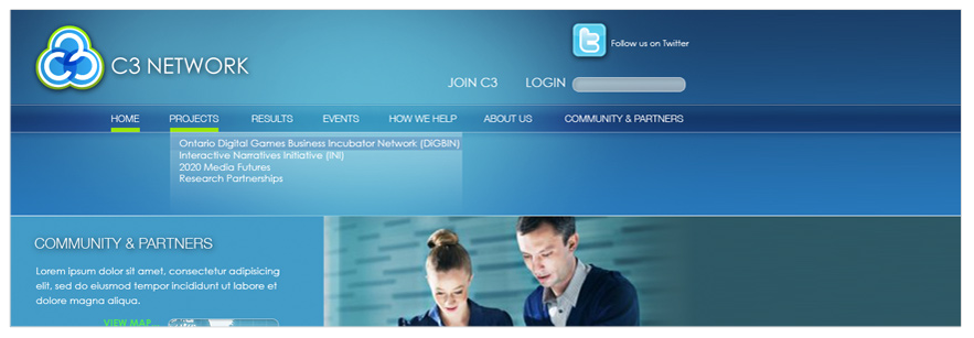 C3 Networks Site Design